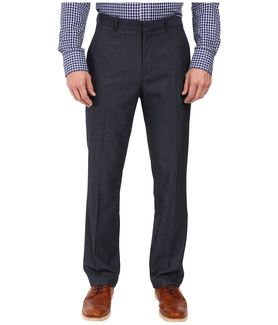 Perry Ellis - Solid Textured Dress Pants (Navy) Men's Dress Pants