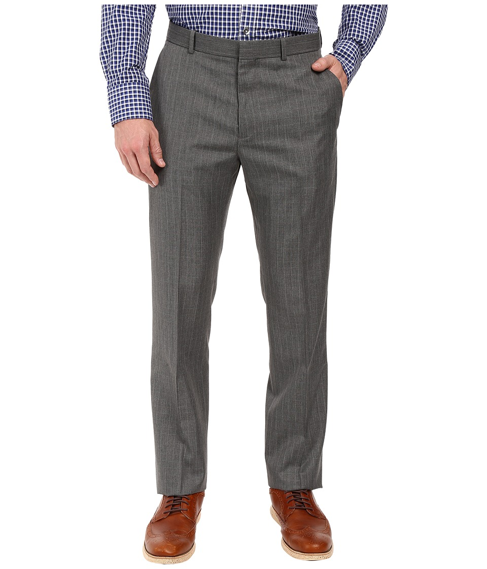 Perry Ellis - Mini-Check Twill Dress Pants (Charcoal) Men's Dress Pants