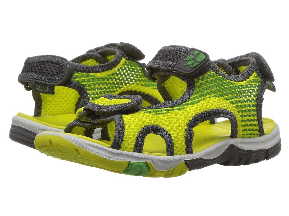 Jack Wolfskin Kids Puno Bay Splash Sandal B (Toddler/Little Kid/Big Kid) (Wild Lime) Boys Shoes
