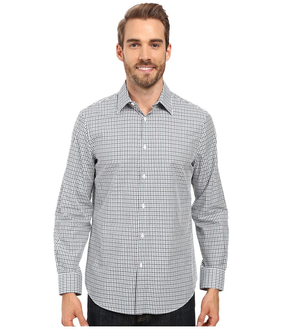 Perry Ellis - Dobby Plaid Shirt (Blue Pond) Men's Clothing