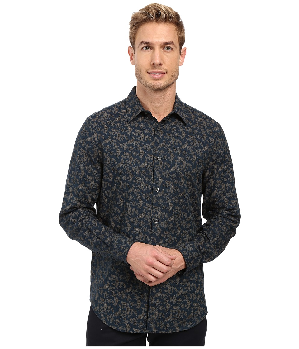 Perry Ellis - Leaving Paisley Shirt (Blue Pond) Men's Clothing