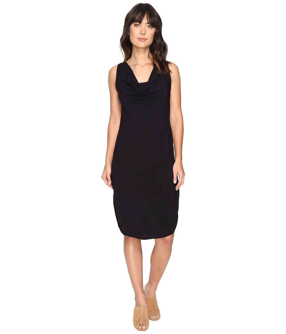 Michael Stars Modern Rayon Draped Dress w/ Back Tie (Dark Iris) Women