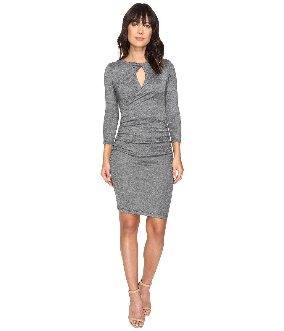 Michael Stars Shine Twisted Keyhole Dress (Oxide) Women