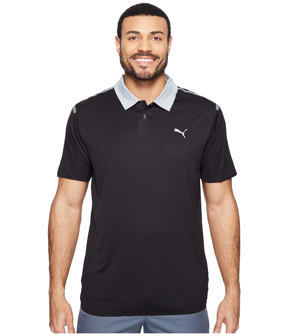 PUMA Golf - Bonded Polo (PUMA Black) Men's Short Sleeve Knit