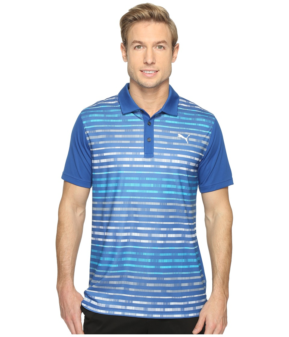 PUMA Golf - Road Map Polo (True Blue) Men's Short Sleeve Knit