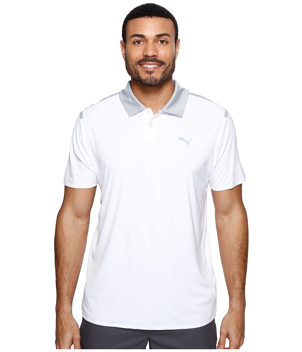 PUMA Golf - Bonded Polo (Bright White) Men's Short Sleeve Knit