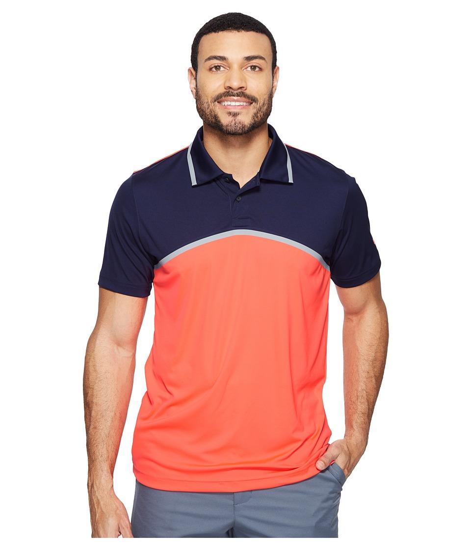 PUMA Golf - Tailored Color Block Polo (Bright Plasma) Men's Short Sleeve Knit
