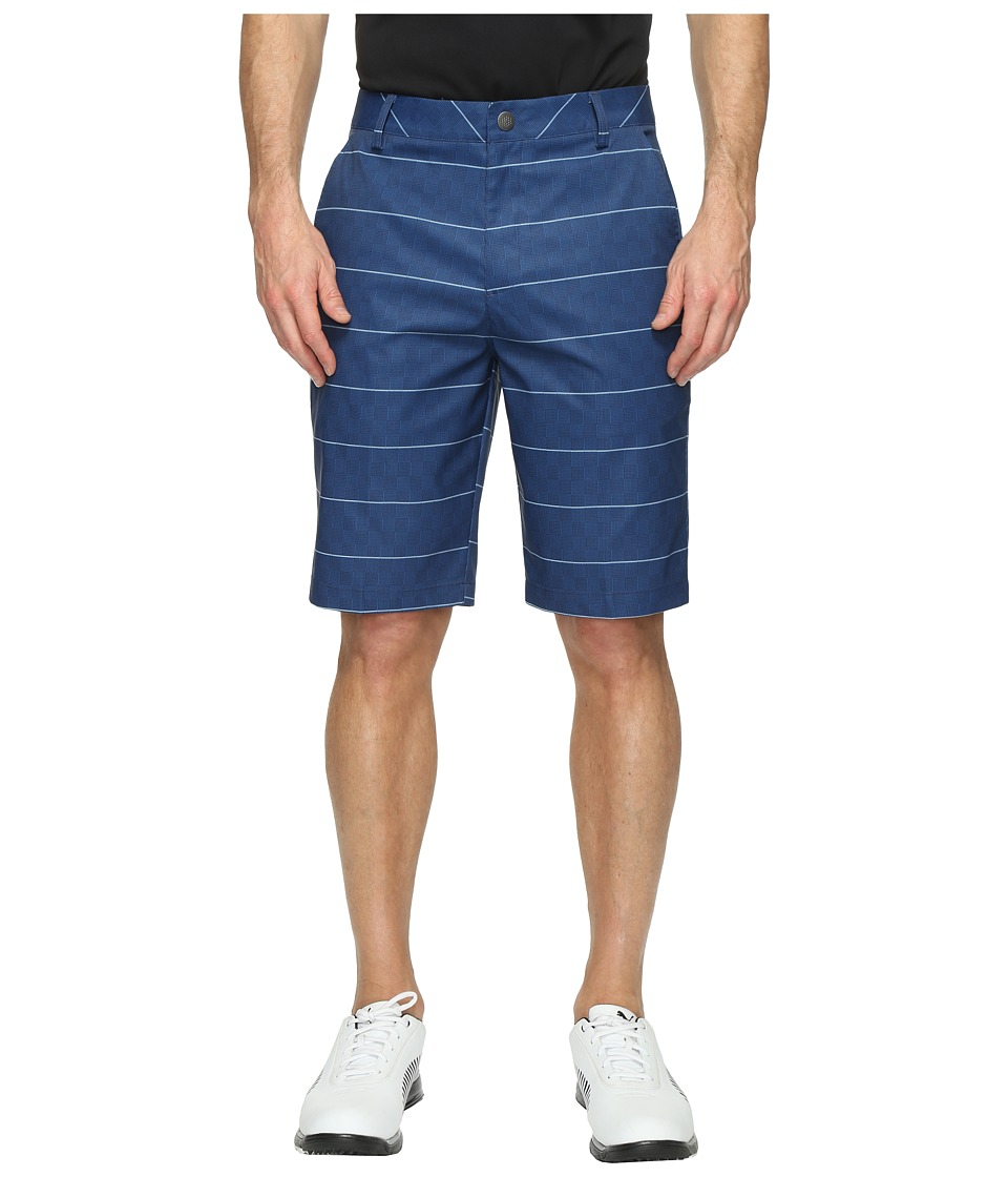 PUMA Golf - Plaid Shorts (True Blue) Men's Shorts