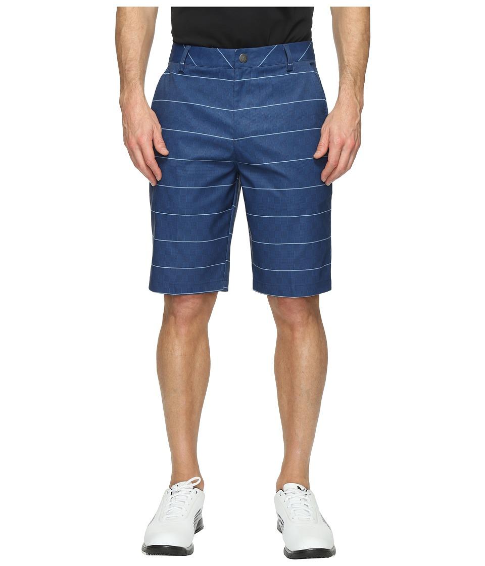 PUMA Golf Plaid Shorts (True Blue) Men