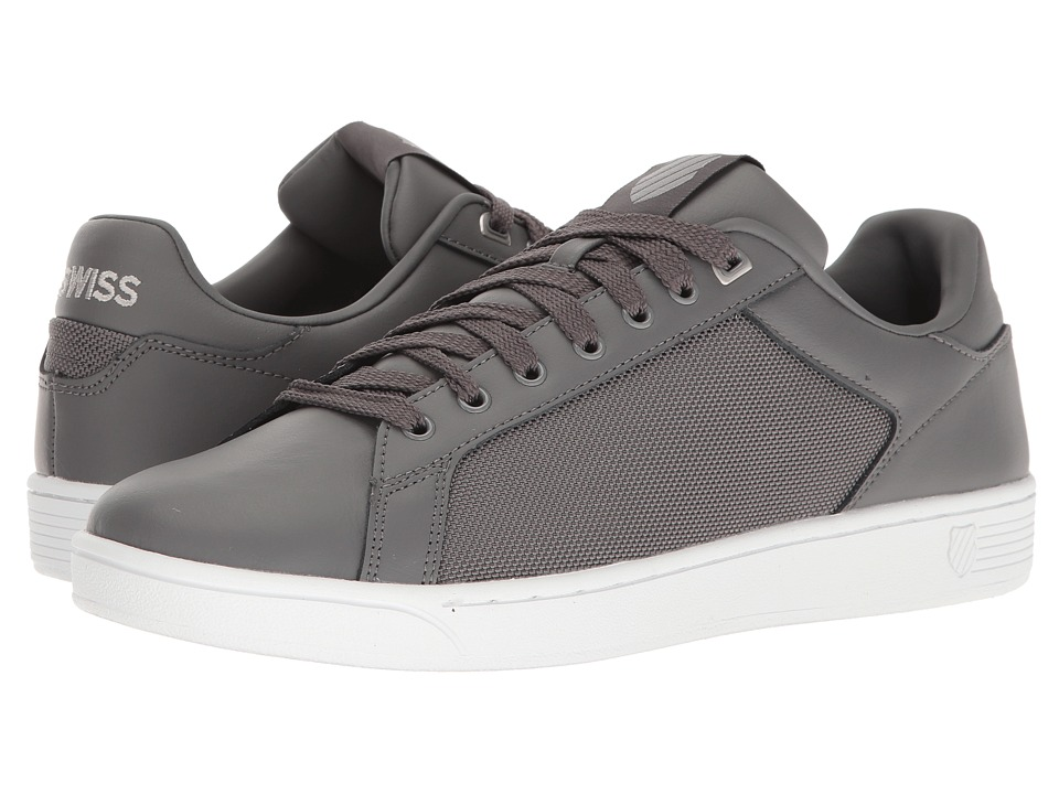 K-Swiss - Clean Court CMF (Charcoal/Silver/White) Men's Tennis Shoes