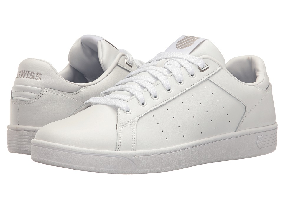 K-Swiss - Clean Court CMF (White/Gull Gray) Men's Tennis Shoes