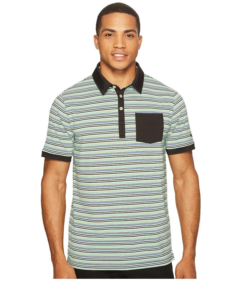 PUMA Golf - Tailored Pocket Stripe Polo (PUMA Black) Men's Short Sleeve Knit