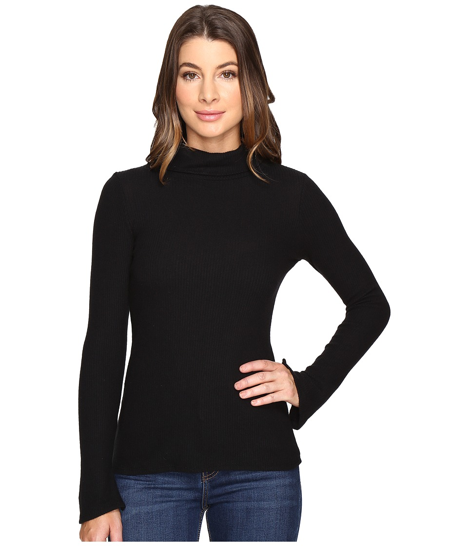 Michael Stars - Super Soft Madison Rib Turtleneck (Black) Women's Long Sleeve Pullover