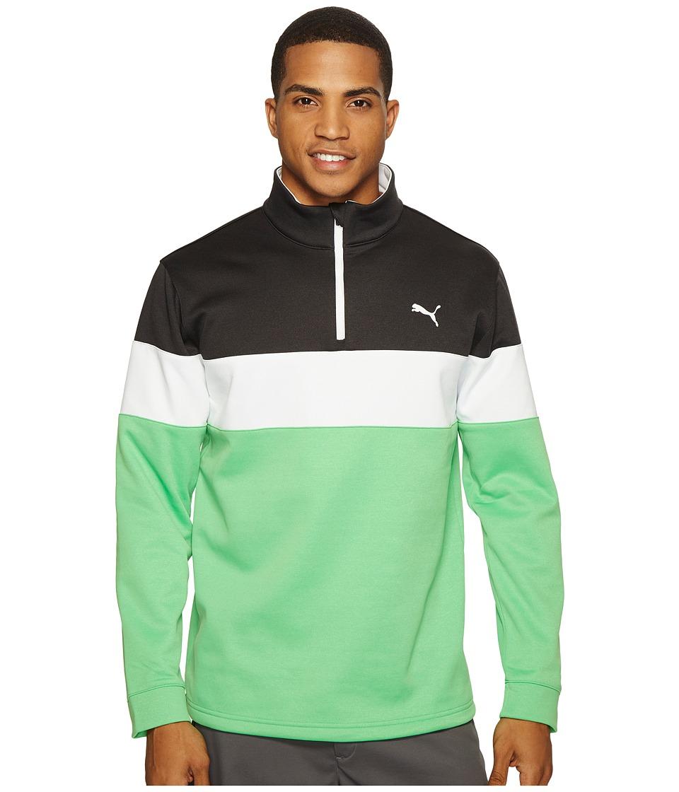 PUMA Golf - PWRWarm 1/4 Zip Popover (Andean Toucan/Dark Gray Heather) Men's Sweatshirt