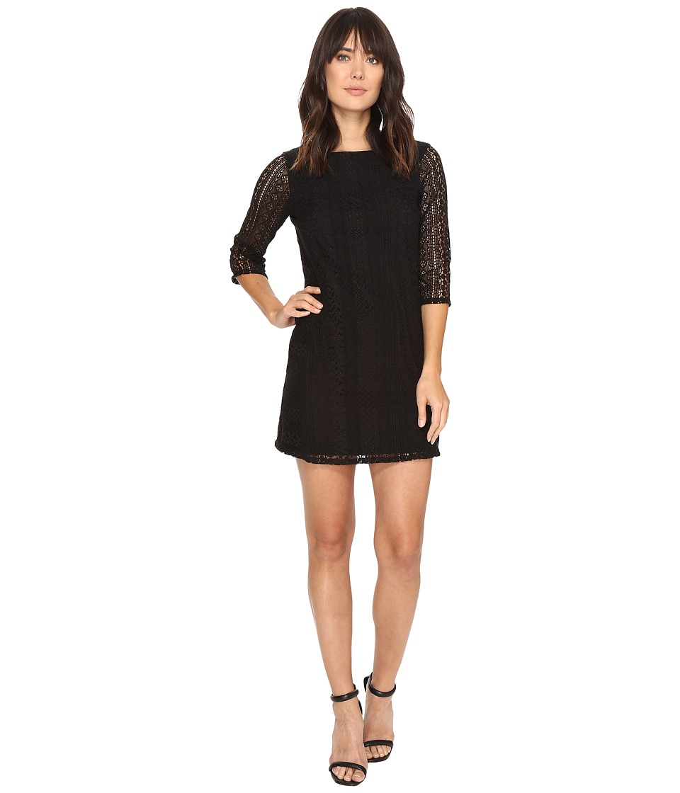 Michael Stars - Lace Shift Dress (Black) Women's Dress
