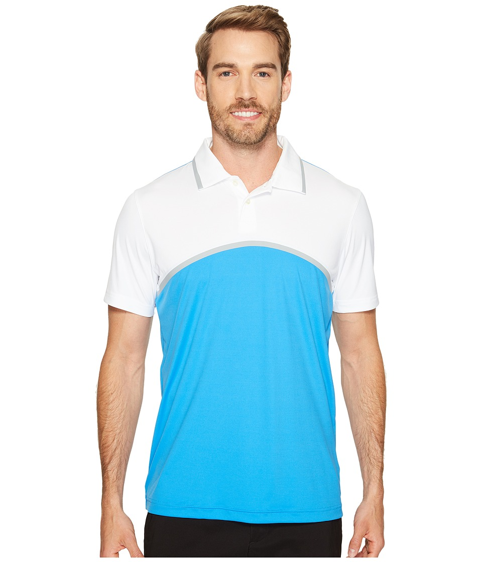 PUMA Golf - Tailored Color Block Polo (French Blue) Men's Short Sleeve Knit