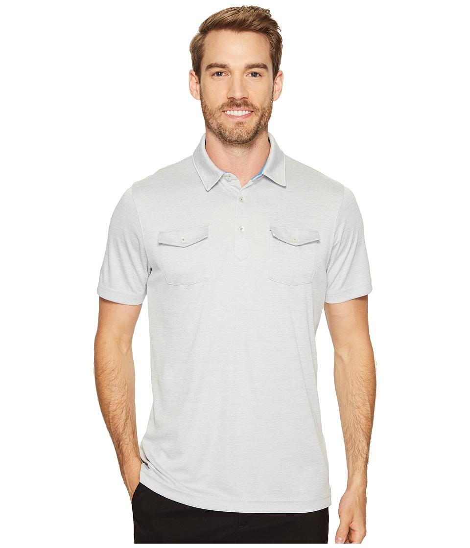 PUMA Golf - Tailored Double Pocket Polo (Light Gray Heather) Men's Short Sleeve Knit