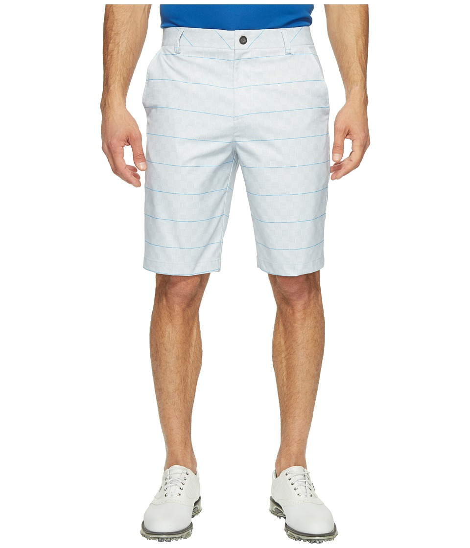 PUMA Golf - Plaid Shorts (Bright White/French Blue) Men's Shorts