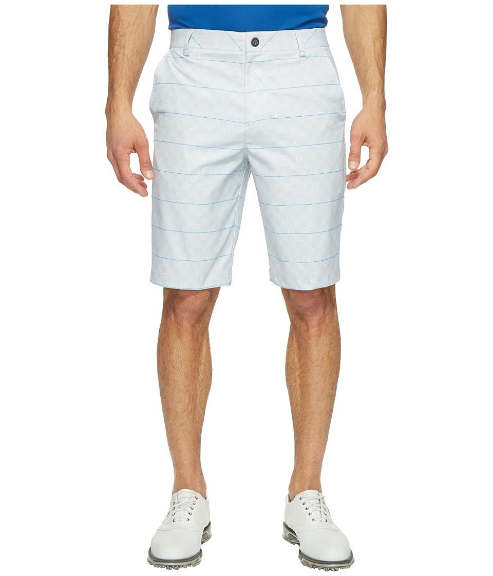 PUMA Golf Plaid Shorts (Bright White/French Blue) Men