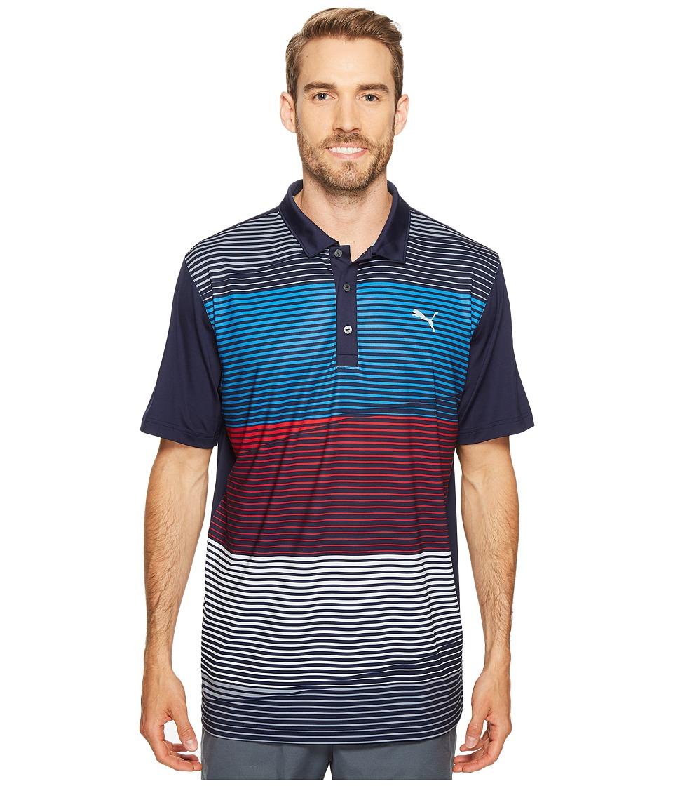 PUMA Golf - Levels Polo Pwrcool (Peacoat) Men's Short Sleeve Knit