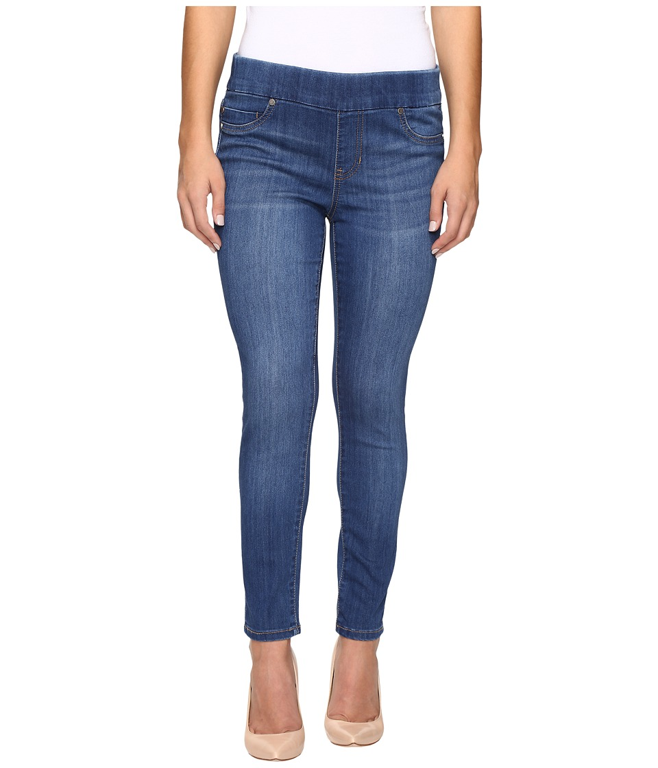 Liverpool - Petite Sienna Pull-On Ankle Jeans in Lanier Mid Indigo (Lanier Mid Indigo) Women's Jeans