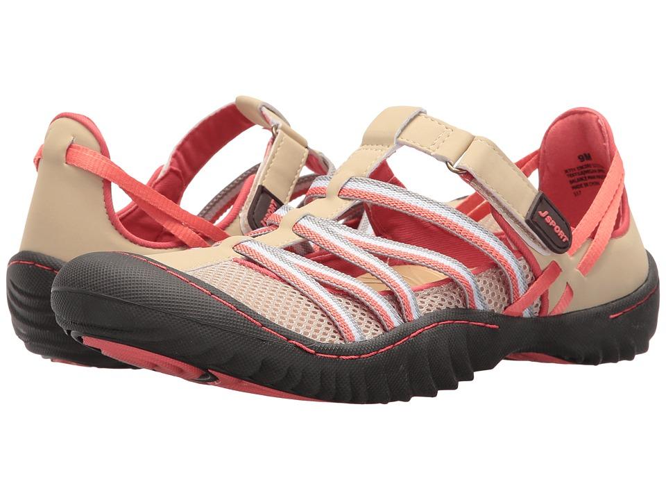 JBU - Jetty Encore (Sand/Coral Microbuck Mesh) Women's Shoes