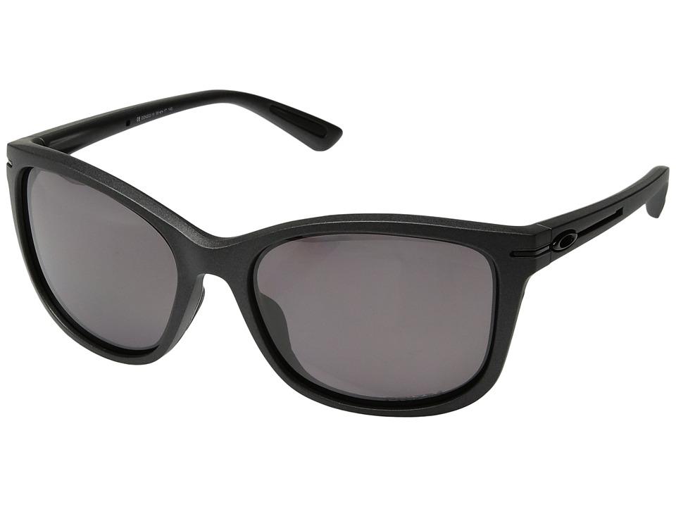 Oakley - Drop In (Steel/Prizm Daily Polarized) Plastic Frame Fashion Sunglasses