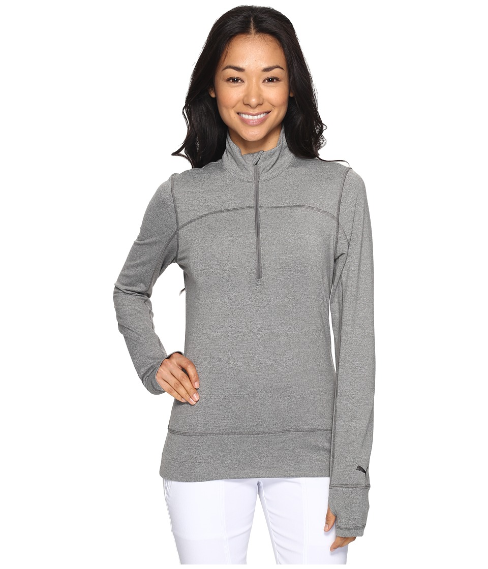 PUMA Golf - 1/4 Zip Popover (Medium Gray Heather) Women's Sweater