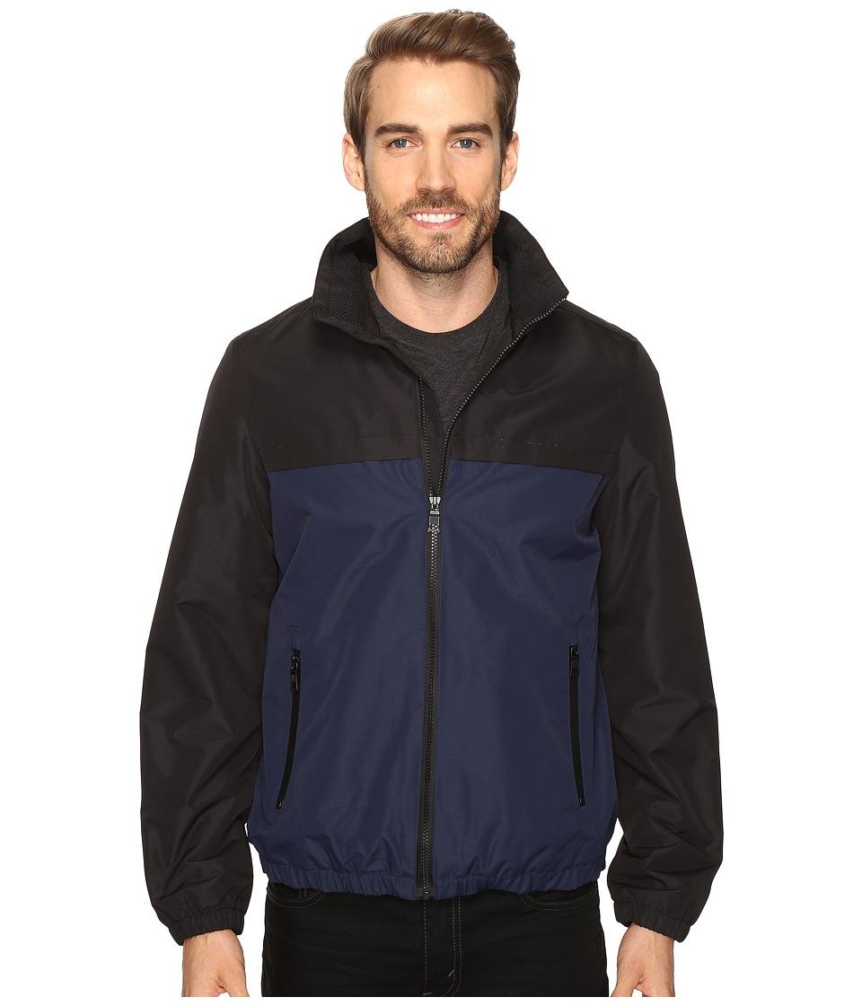 Nautica - Brushed Radiance Zip Jacket (Black/Navy) Men's Coat