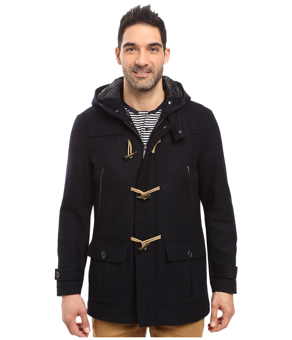 Nautica - Wool Melton Toggle Coat (Dark Navy) Men's Coat