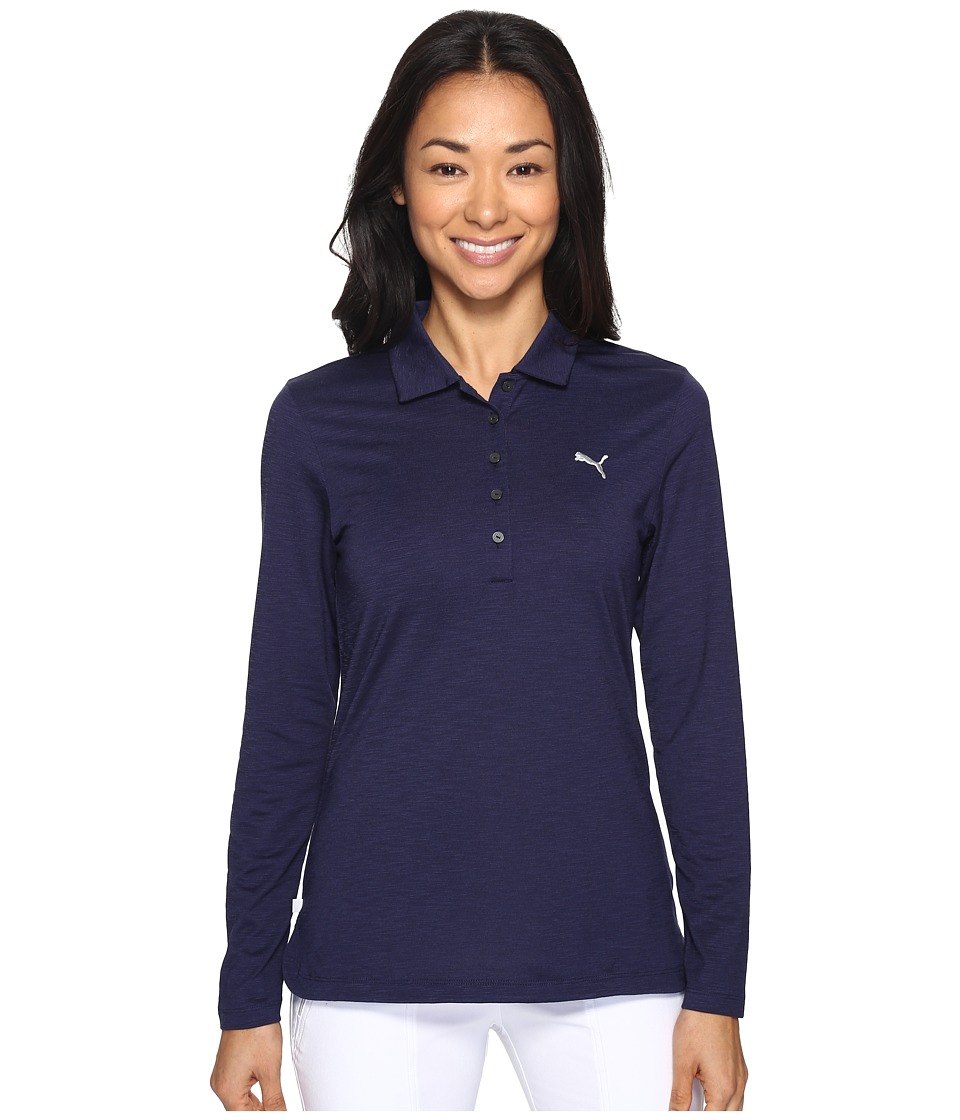 PUMA Golf - Long Sleeve Polo (Peacoat) Women's Long Sleeve Pullover