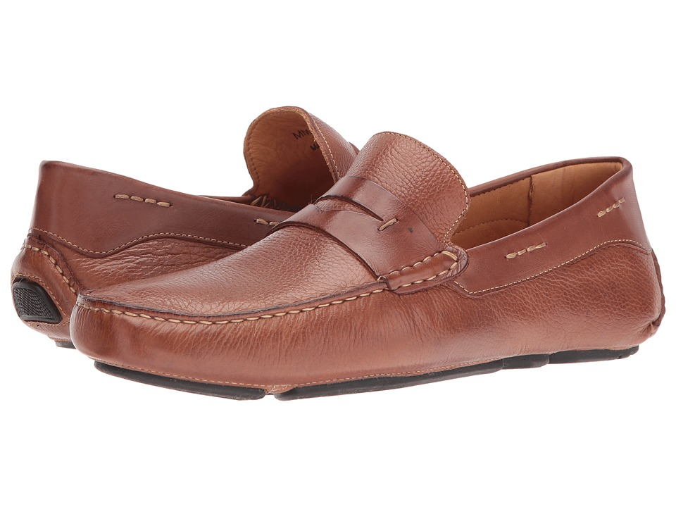 Massimo Matteo - Florencia Penny Driver (Whiskey) Men's Slip on Shoes