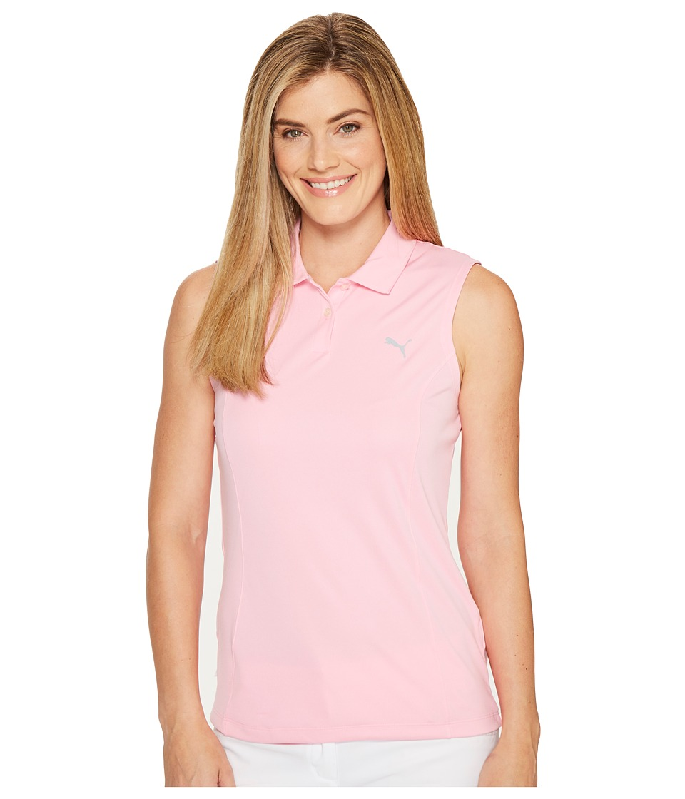 PUMA Golf - Pounce Sleeveless Polo (Prism Pink) Women's Sleeveless
