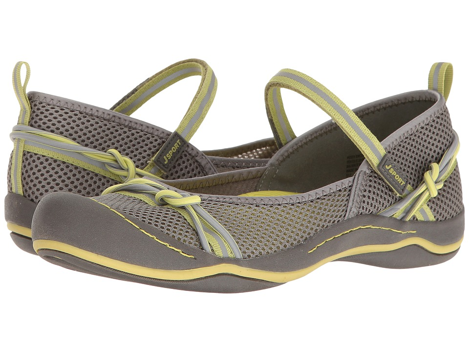 JBU - Misty Encore (Grey/Pistachio Mesh/Webbing/Bungee) Women's Shoes