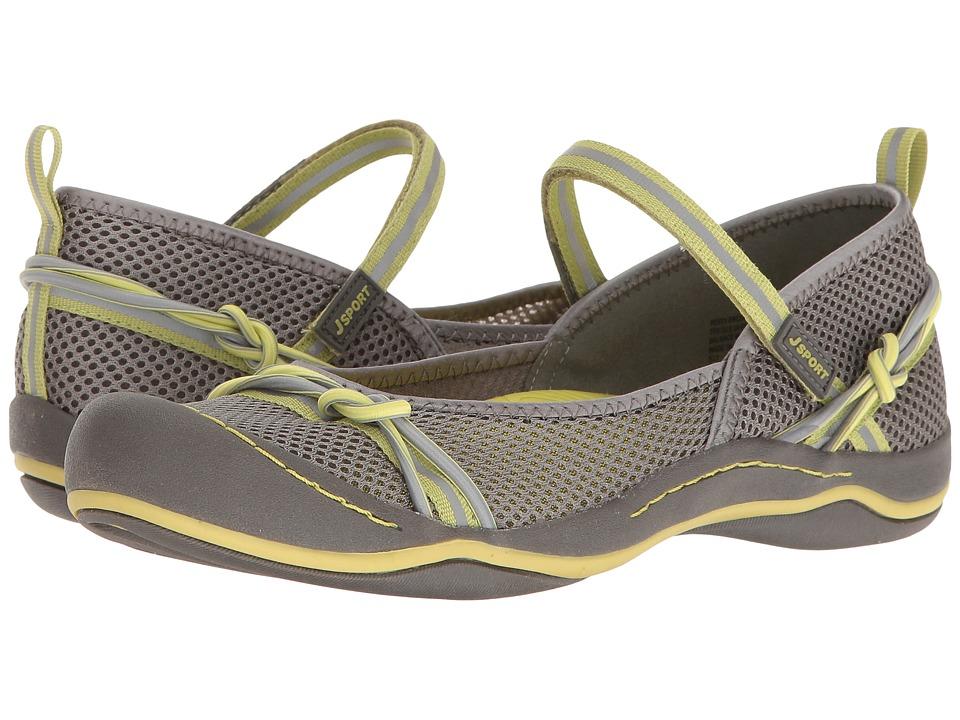 JBU - Misty Encore (Grey/Pistachio Mesh/Webbing/Bungee) Women's Shoes