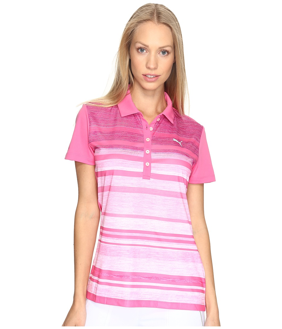 PUMA Golf - Depths Polo (Shocking Pink) Women's Short Sleeve Knit