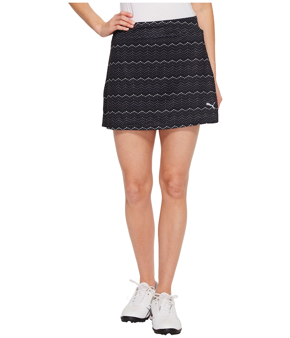 PUMA Golf Zig Zag Knit Skirt (PUMA Black) Women