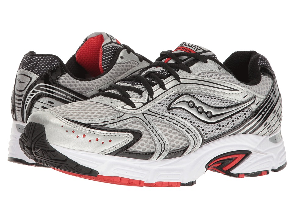 Saucony - Grid Phantom (Silver/Black/Red) Men's Shoes