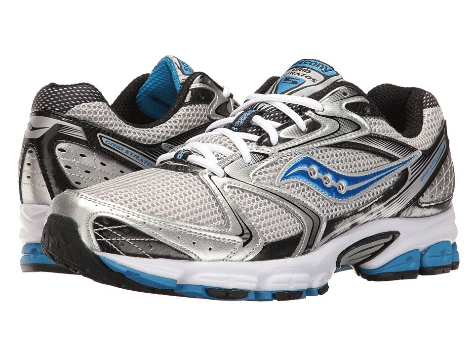 Saucony - Grid Stratos 5 (Silver/Black/Royal) Men's Shoes