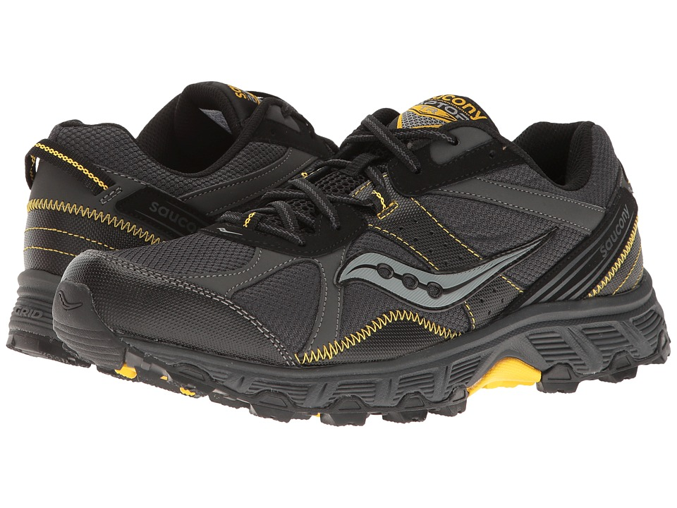 Saucony - Grid Raptor TR (Black/Grey/Yellow) Men's Shoes
