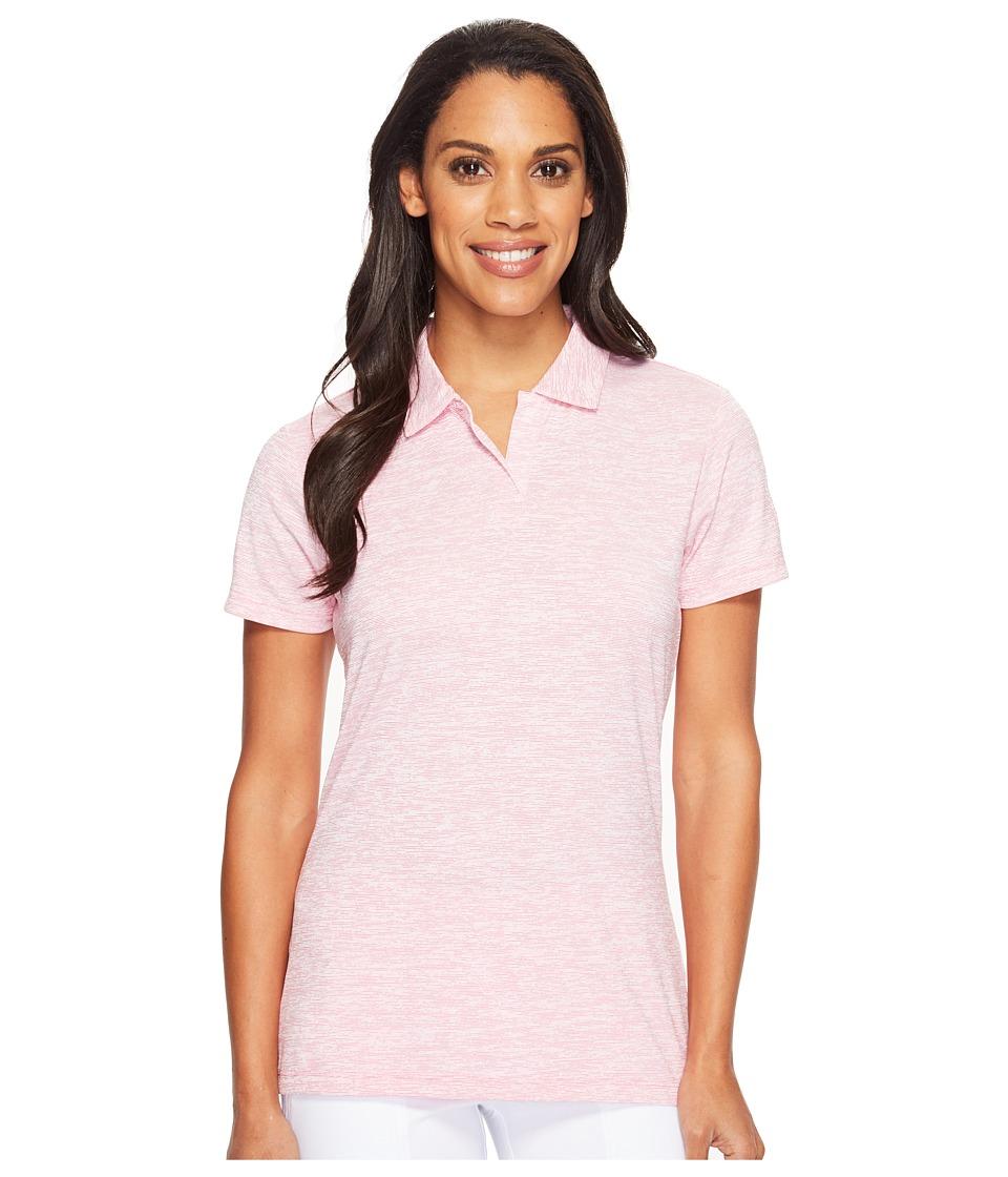 PUMA Golf - Space Dye Polo (Shocking Pink) Women's Short Sleeve Knit
