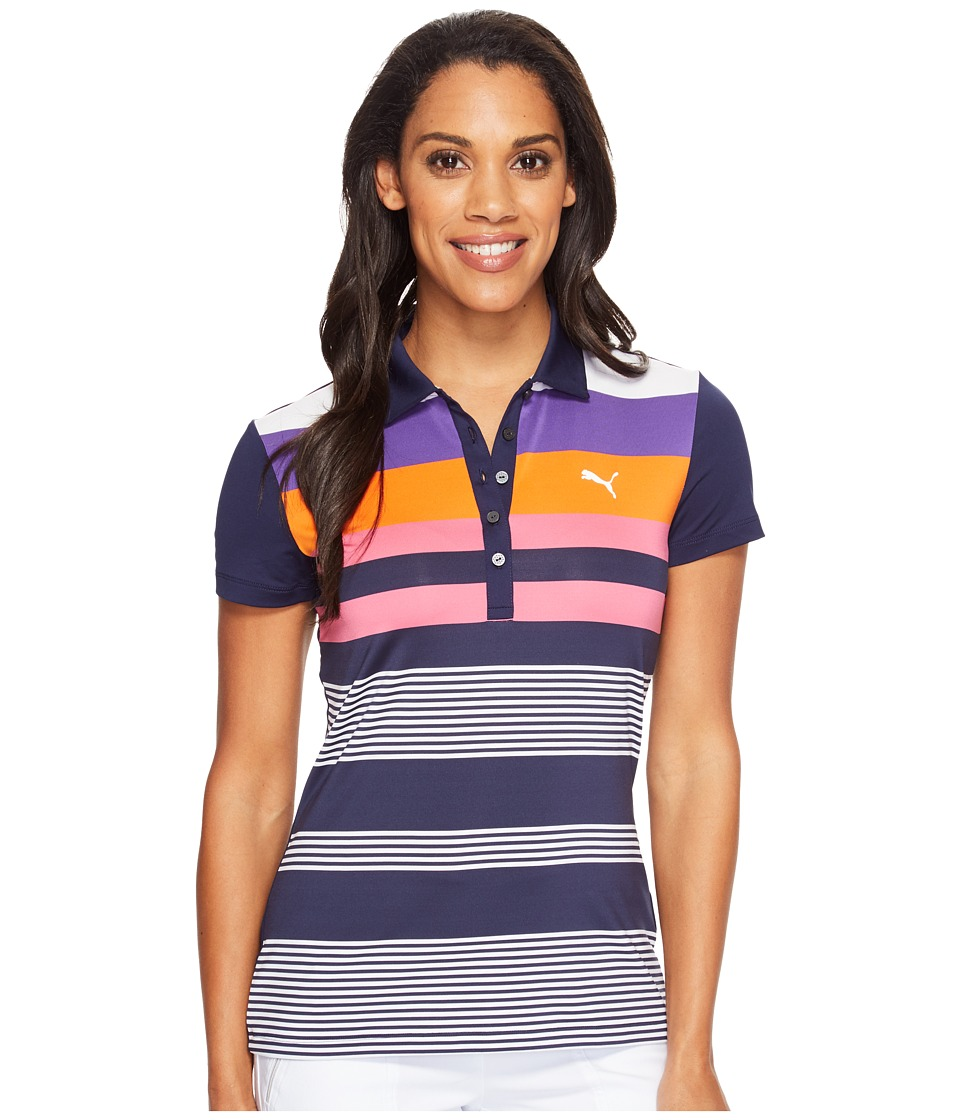 PUMA Golf - Road Map Polo (Peacoat) Women's Short Sleeve Pullover