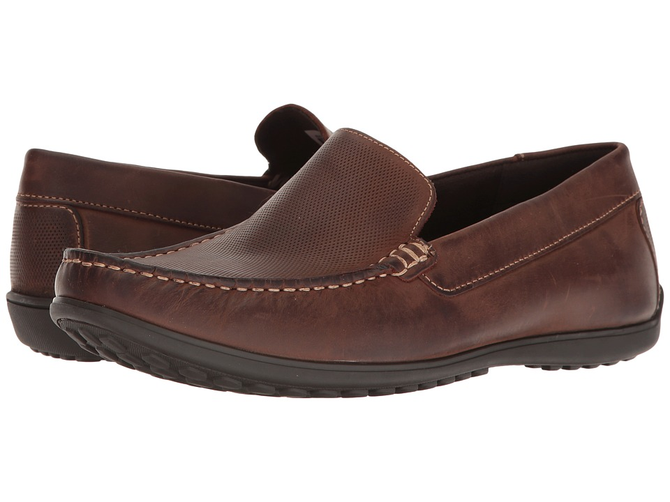 Rockport - Bayley Venetian (Cocoa Leather) Men's Shoes