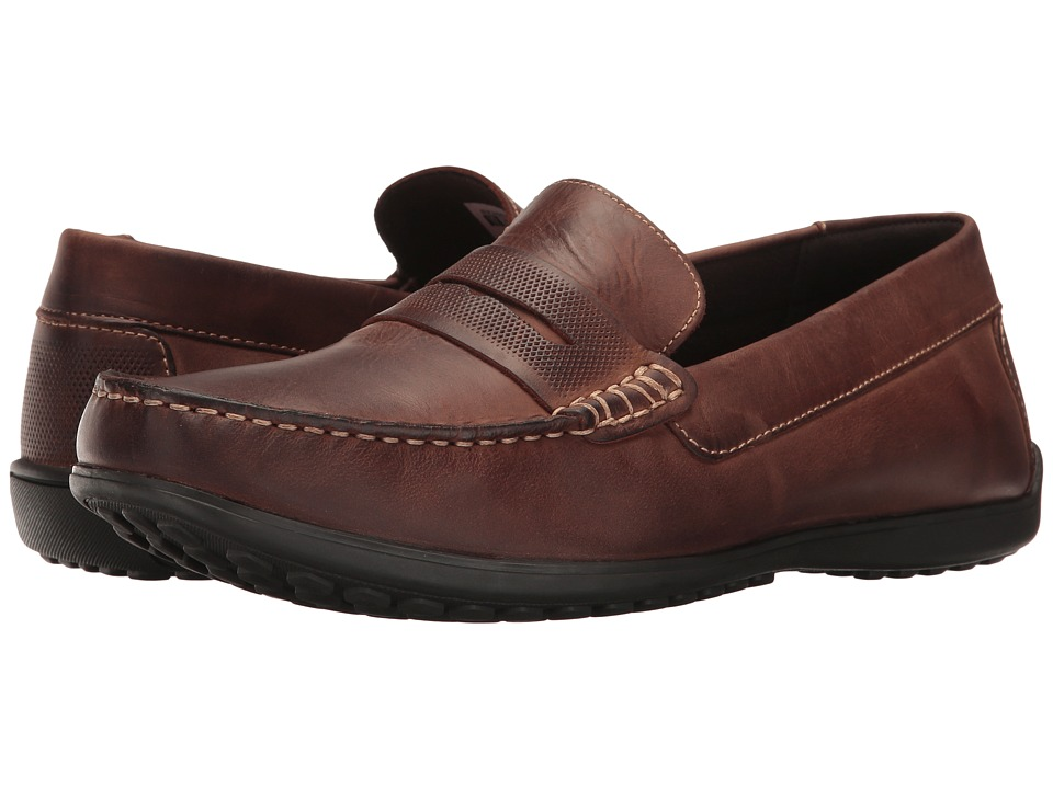 Rockport - Bayley Penny (Cocoa Leather) Men's Shoes