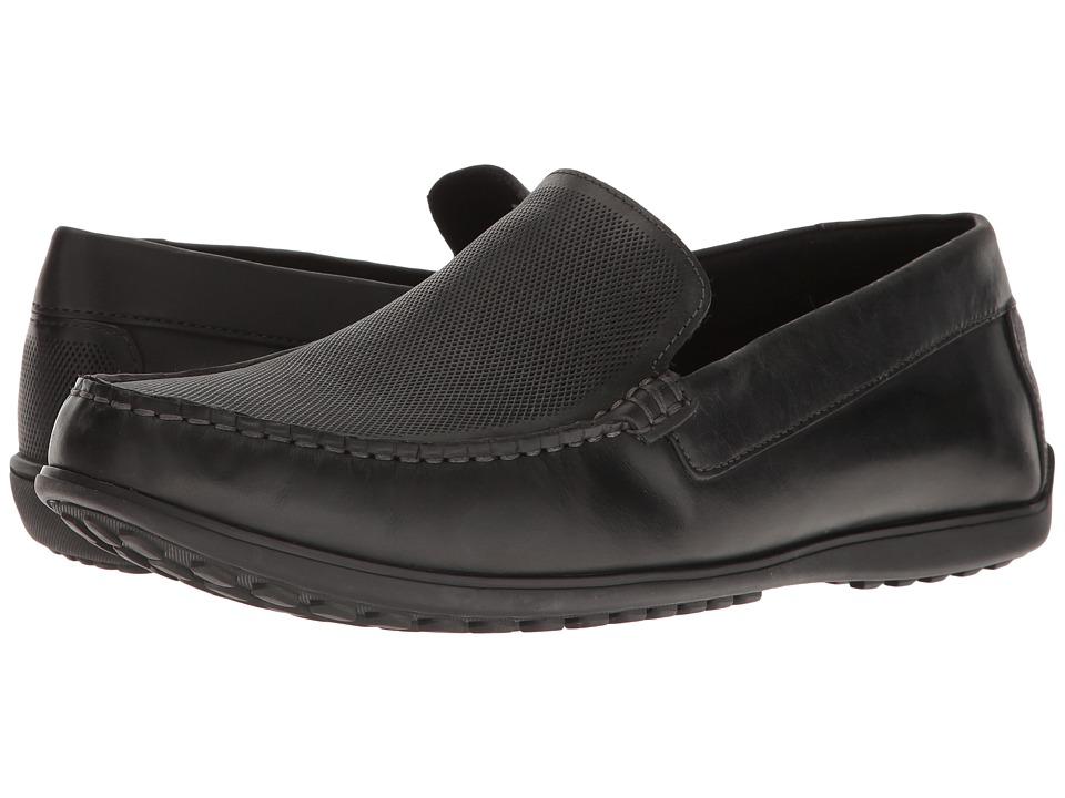 Rockport - Bayley Venetian (Black Leather) Men's Shoes