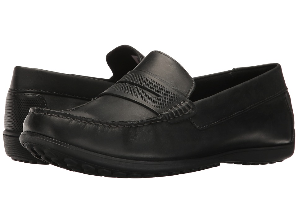Rockport - Bayley Penny (Black Leather) Men's Shoes