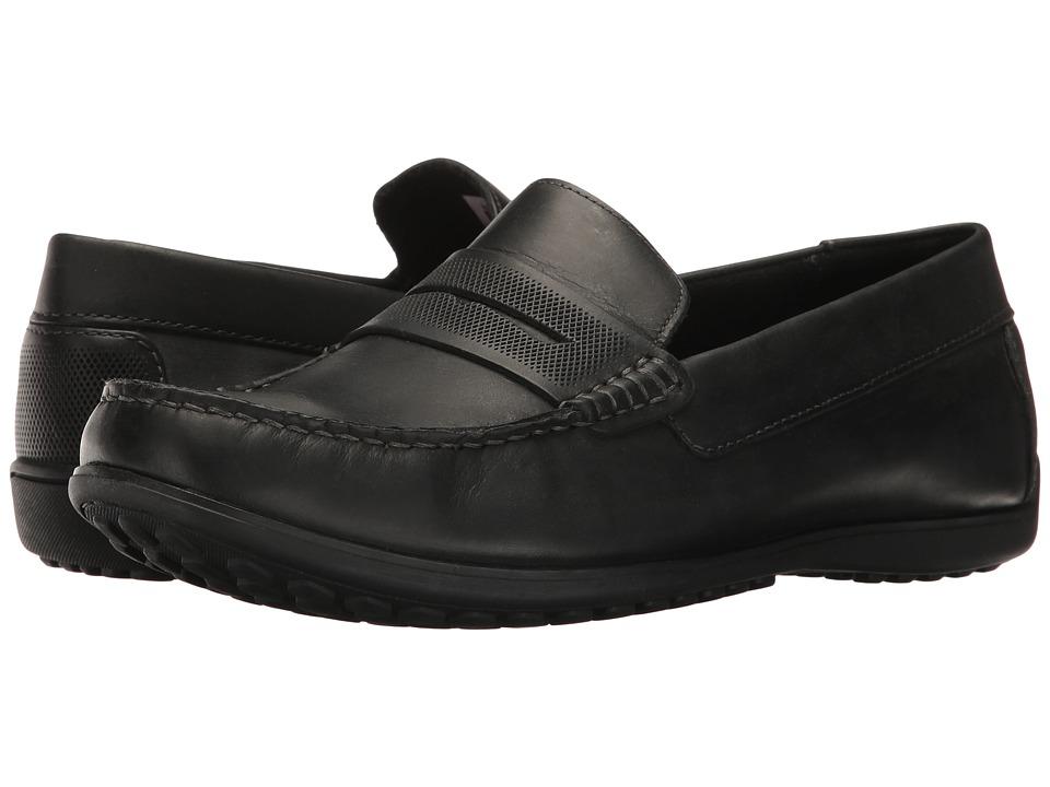 Rockport - Bayley Penny (Black Leather) Men's Shoes