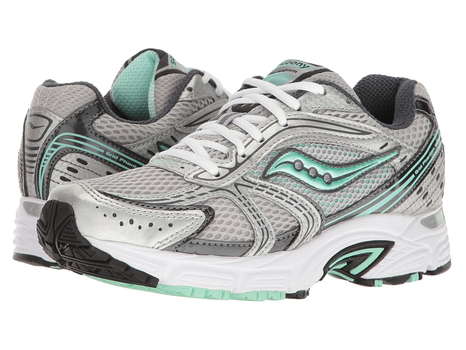 Saucony - Grid Phantom (Silver/Grey/Mint) Women's Shoes