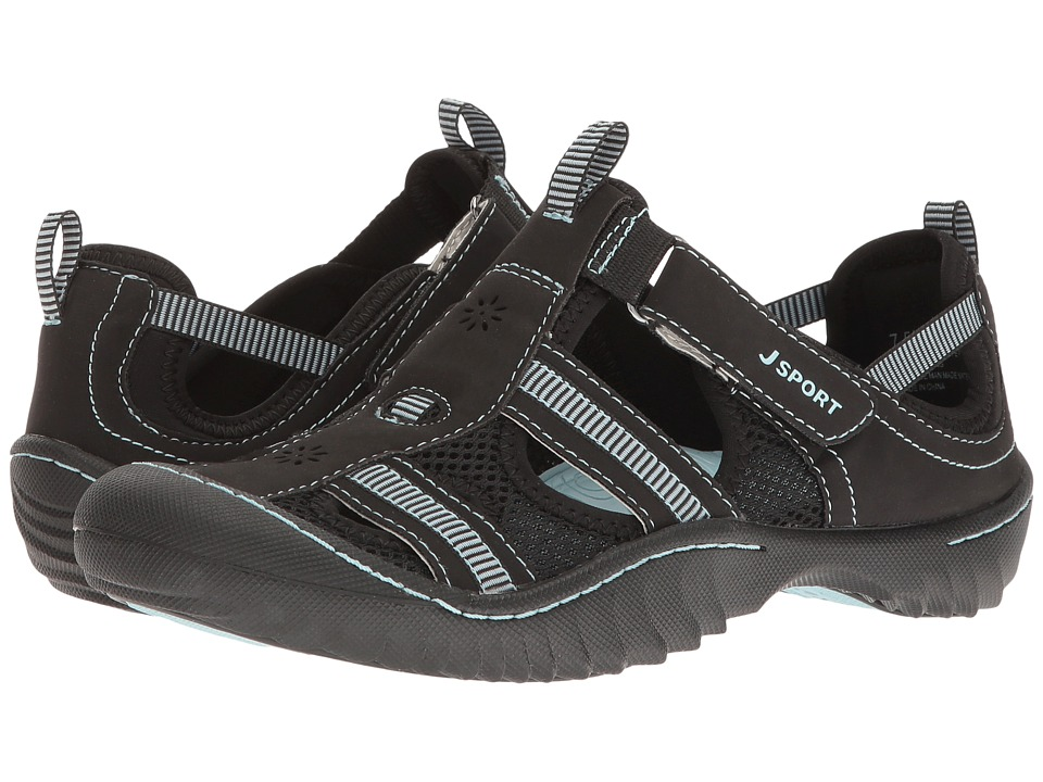 JBU Regatta (Black/Cool Blue Microbuck/Mesh) Women