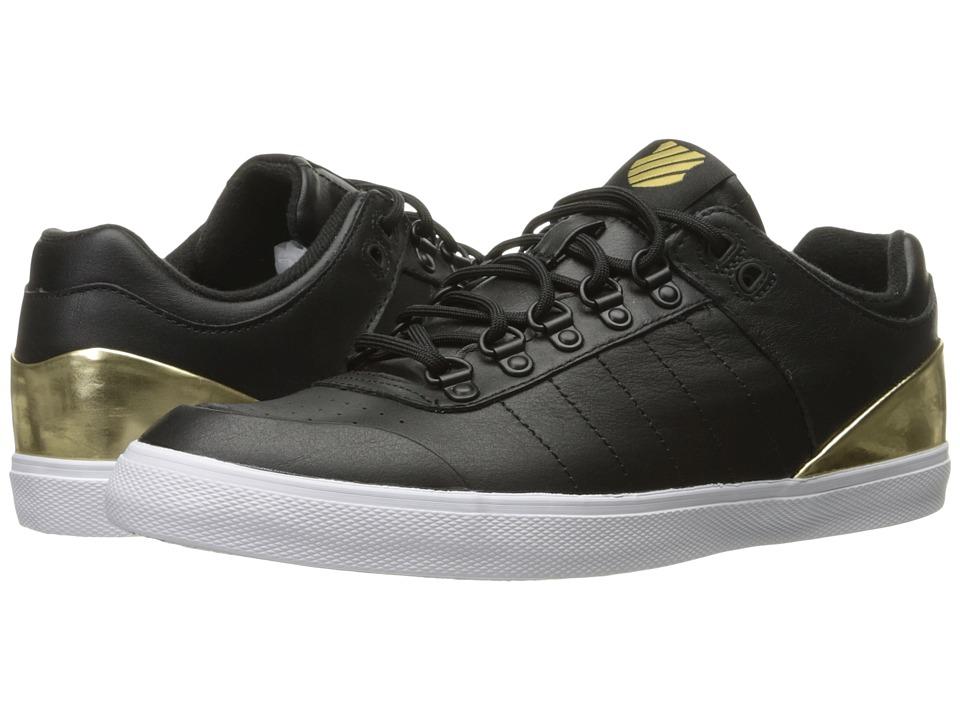 K-Swiss - Gstaad Neu Sleek (Black/Gold/White) Women's Tennis Shoes